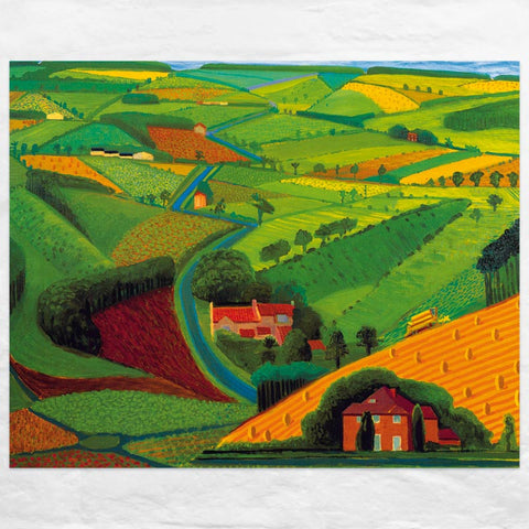 Road Across the Wolds Poster by David Hockney