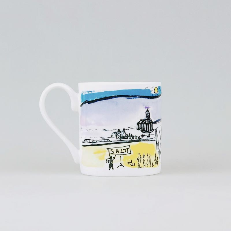 Blue Skies Over Saltaire Mug by Kitty North