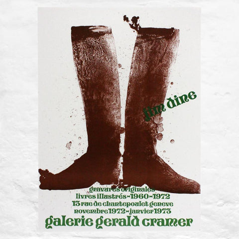Silhouette Black Boots poster by Jim Dine (Galerie Gerald Cramer, Geneva, 1973)