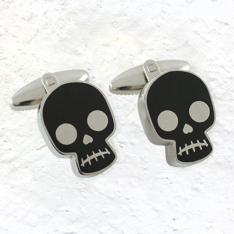 Skull cufflinks (based on a design by Frida Kahlo)
