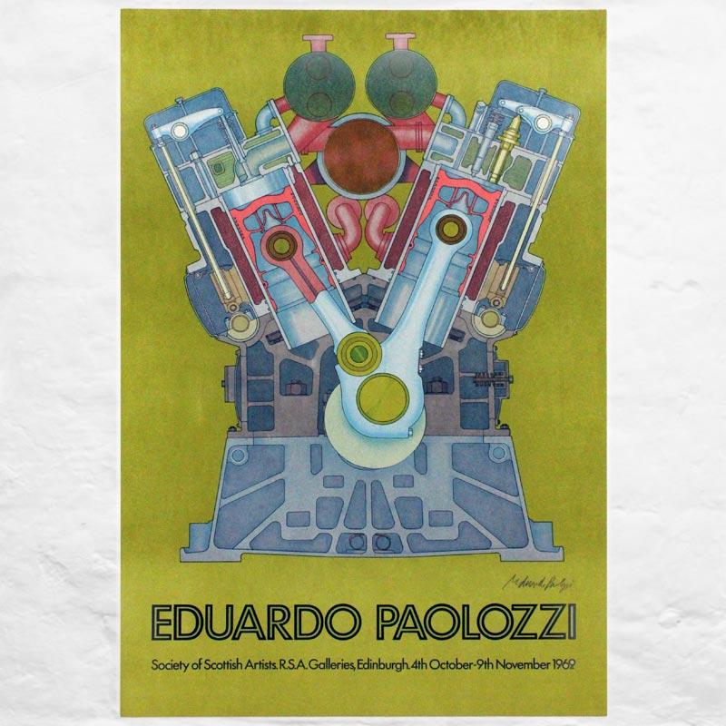 Society of Scottish Artists, 1969: signed poster by Eduardo Paolozzi