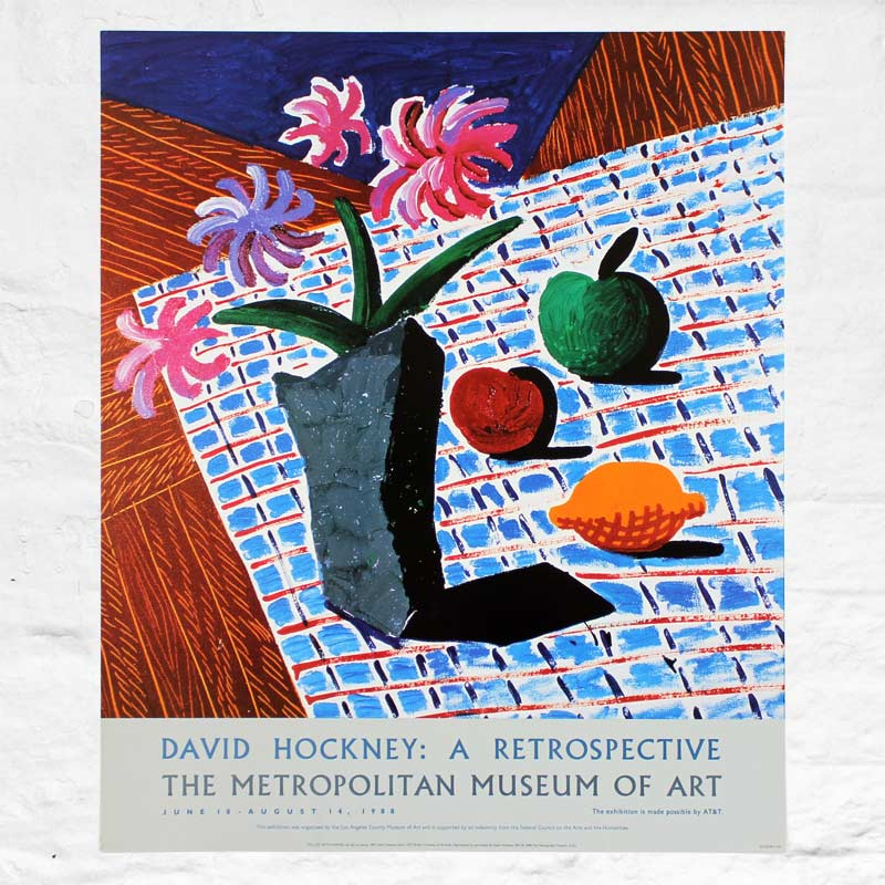 Still Life with Flowers Poster for The Metropolitan Museum of Art (1988) by David Hockney