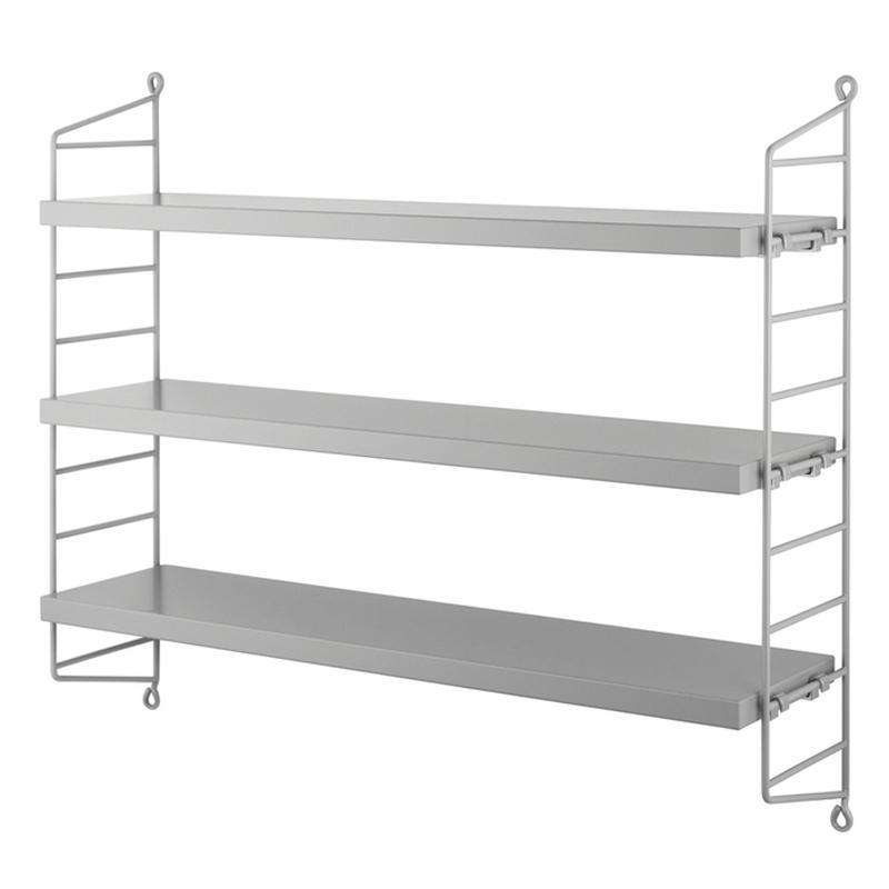 String® Pocket Shelving System - Grey / Grey