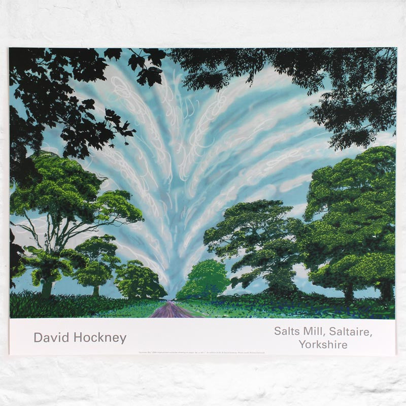 Summer Sky (2008) poster by David Hockney