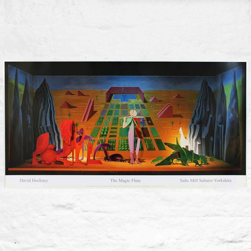 The Magic Flute Exhibition Poster By David Hockney