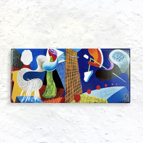 The Other Side Extra Large Fridge Magnet by David Hockney