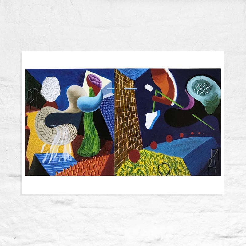 The Other Side by David Hockney -  Mini-Print (A4 size)
