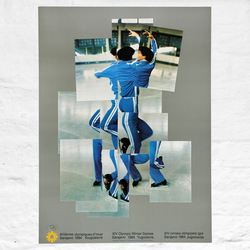 The Skater (Official 1984 Sarajevo Winter Olympics Poster) by David Hockney