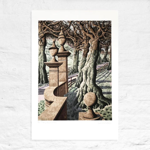 The Stone Masons - Signed Limited Edition Print by Simon Palmer