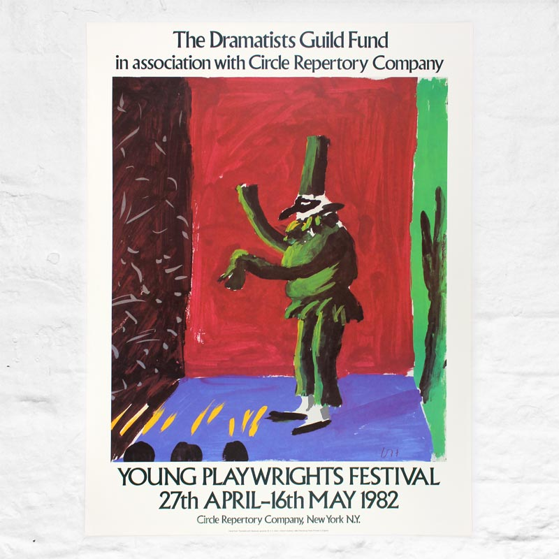 Young Playwrights Festival 1982 Poster by David Hockney