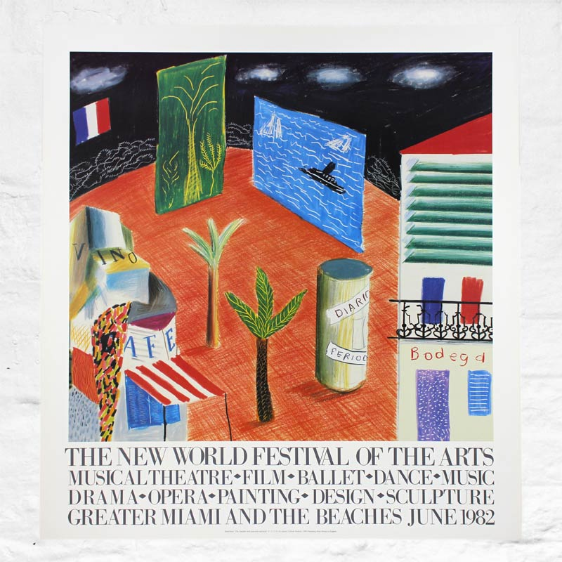 Zanzibar (Miami) 1982 Poster by David Hockney