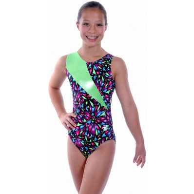 Snowflake Designs Broken Glass Gymnastics Leotard