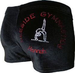 Deeside Gymnastics Personalised Black Velvet Club Shorts