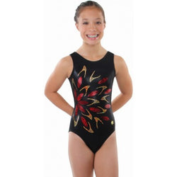 Snowflake Designs Flash Black Gymnastics Leotard