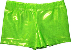Snowflake Designs Neon Green Mystique Gymnastic Shorts
