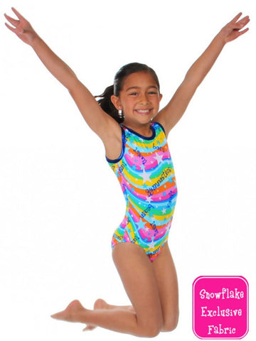 Snowflake Designs Happy Gymnastics Leotard