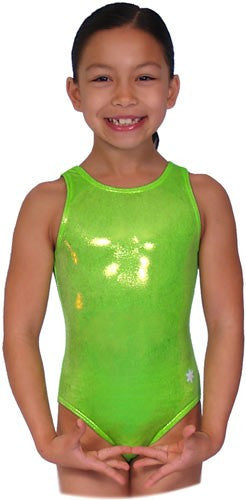 Snowflake Designs Neon Green Leotard