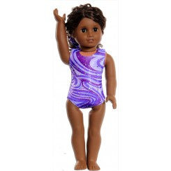 Snowflake Designs Purple Razzleberry Doll Leotard