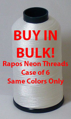 Full Box Rapos Neon Thread - 6 Cones of 5000 Meter Thread (Choose your color with drop-down box)