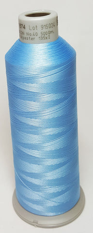 Madeira 918-1674 Light Denim #40 Embroidery Thread Cone – 5500 Yards