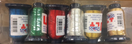 6-COLOR METALLIC THREAD KIT