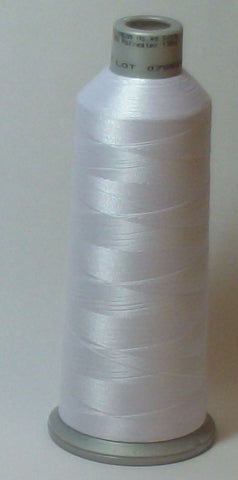 Madeira 918-1801 Super White #40 Embroidery Thread Cone – 5500 Yards