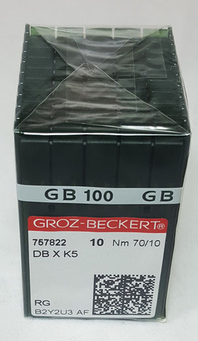 Groz-Beckert 70/10 Sharp Point Needle - Box of 100 - DBXK5-70