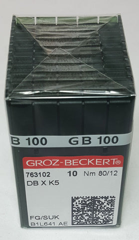 Groz-Beckert 80/12 Medium Ball Point Needle - Box of 100 - DBXK5-80FG