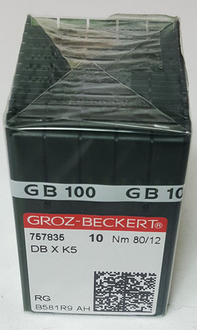 Groz-Beckert 80/12 Sharp Point Needle - Box of 100 - DBXK5-80