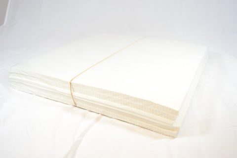 "1.8 oz White Soft Tearaway 7.5"" Square Sheets - 50 pieces"