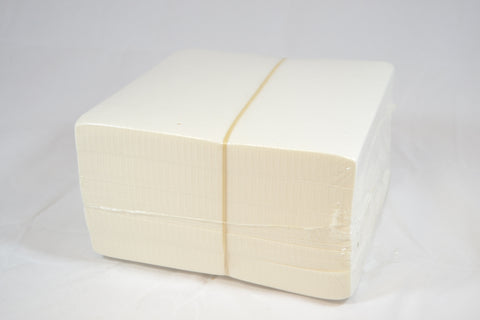 "1.8 oz White Crisp Tearaway 15"" Square Sheets - 250 pcs"