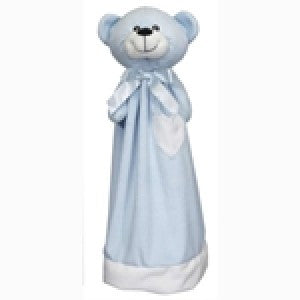 "Blue Bear 20"" Embroiderable Animal Blanket"