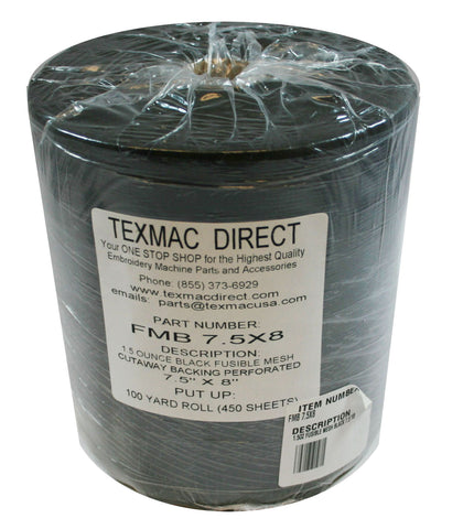 FMB 7.5x8 Fusible Black Mesh