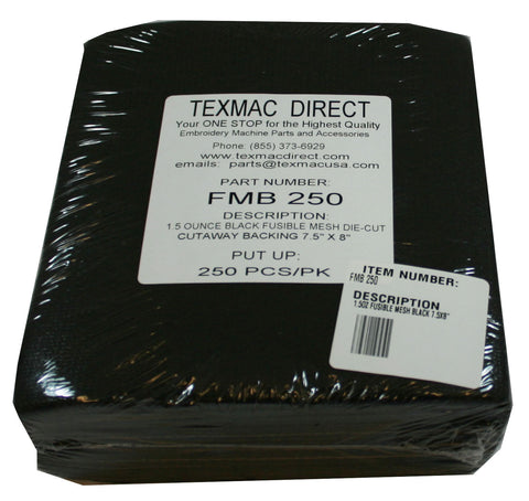FMB 250 Fusible Black Mesh