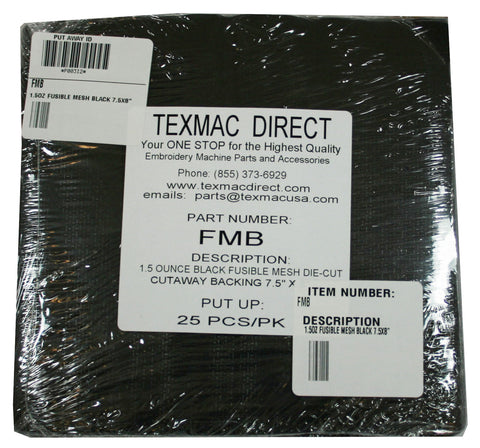 FMB Fusible Mesh Black