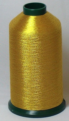 RAPOS-G26 Dark Gold Metallized Embroidery Thread Cone – 5000 Meters