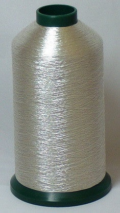 RAPOS-G27 Silver Metallized Embroidery Thread Cone – 5000 Meters