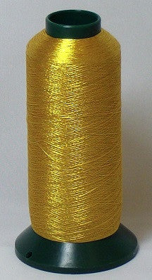RAPOS-G2K 26 Dark Gold Metallized Embroidery Thread Cone – 2000 Meters (G26)
