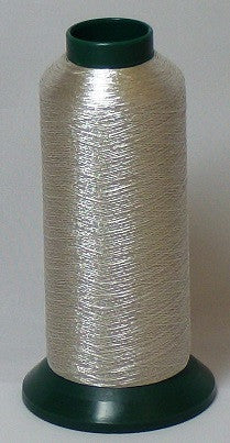 RAPOS-G2K 27 Silver Metallized Embroidery Thread Cone – 2000 Meters (G27)