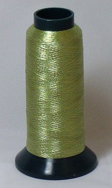RAPOS-RG2K G35 Olive Metallized Embroidery Thread Cone – 2000 Meters