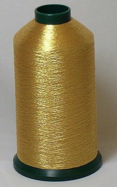 RAPOS-G3 Lighter Dark Gold Metallized Embroidery Thread Cone – 5000 Meters