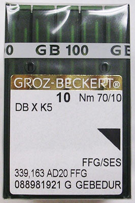 Groz-Beckert 70/10 Light Ball Point Titanium Coated Needle, Box of 100