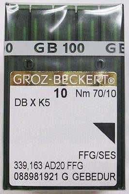 Groz-Beckert 70/10 Sharp Point Titanium Coated Needle - 10 Pack - 10-GB-DBXK570