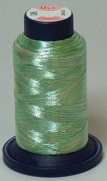 RAPOS-GM5 Variegated Multi-Color – Mint Green and Silver Metallized Embroidery Thread Cone – 800 Meters