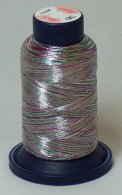 RAPOS-GM9 Variegated Multi-Color – Green, Red and Silver Teal Metallized Embroidery Thread Cone – 800 Meters