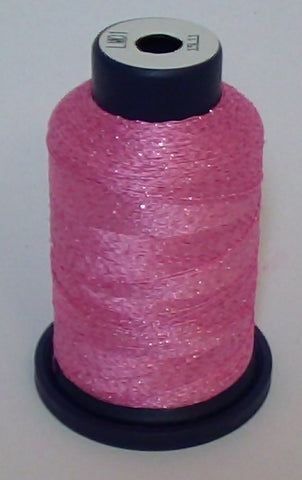 Baby Pink Lame' Stylo Sparkling Embroidery Thread - 1000 Meters LM01