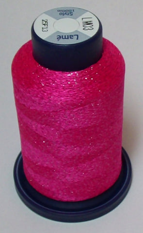 Dark Pink Lame' Stylo Sparkling Embroidery Thread - 1000 Meters LM03