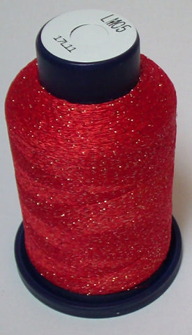Red-Orange Lame' Stylo Sparkling Embroidery Thread - 1000 Meters LM05