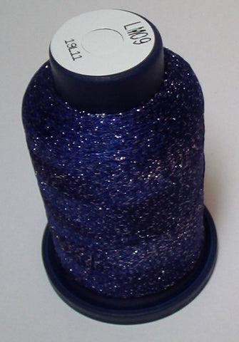 Navy Blue Lame' Stylo Sparkling Embroidery Thread - 1000 Meters LM09