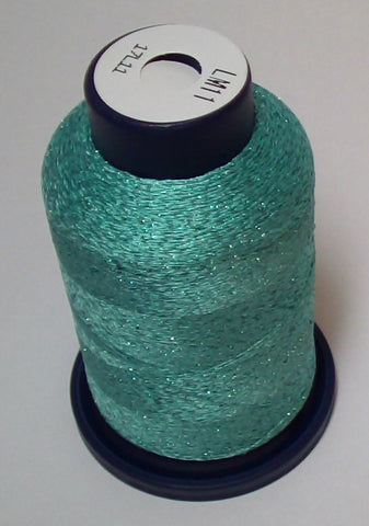 Teal Lame' Stylo Sparkling Embroidery Thread - 1000 Meters LM11